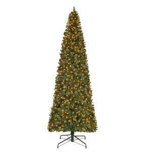 12 ft. Pre-Lit LED Alexander Pine Artificial Christmas Quick Set Tree with 2850 Tips and Warm White Lights-TGC0M5311L00 206795446