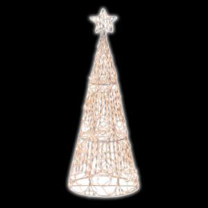 Brite Star 5 ft. 3D Cone Tree Sculpture-48-866-00 203613935