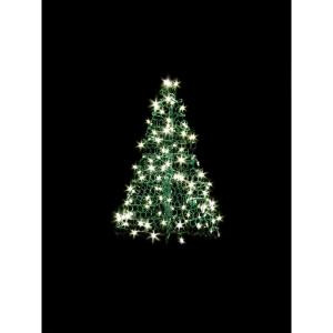 Crab Pot Trees 3 ft. Indoor/Outdoor Pre-Lit Incandescent Artificial Christmas Tree with Green Frame and 200 Clear Lights-G3C 205421131