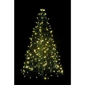 Crab Pot Trees 3 ft. Pre-Lit LED Green Artificial Christmas Tree with Green Frame and 160 Multi-Color Lights-G3M-LED 205471993