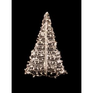 Crab Pot Trees 5 ft. Indoor/Outdoor Pre-Lit Incandescent Artificial Christmas Tree with White Frame and 350 Clear Lights-W5W 205471770