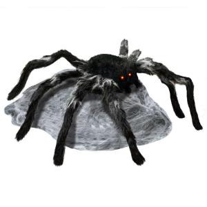 Home Accents Holiday 21.65 in. Animated Jumping Spider with Red LED Eyes-56018 206782792