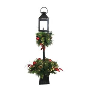 Home Accents Holiday 4 ft. Artificial Lantern Porch Tree with 70 Lights-693935 205915450