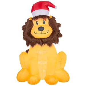 Home Accents Holiday 46.46 in. W x 33.47 in. D x 72.05 in. H Lighted Inflatable Lion-36552 206950560