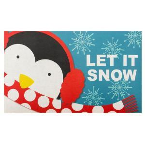 Home Accents Holiday Let it Snow Penguin 18 in. x 30 in. Door Mat-60799079518x30 207037133