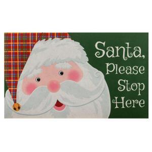 Home Accents Holiday Santa Please Stop Here 18 in. x 30 in. Door Mat-60799059818x30 207072866