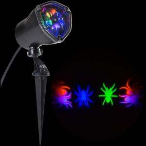 LightShow 11.81 in. Projection Whirl-A-Motion OGPB Spiders-72506 206762439