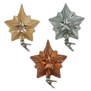 Martha Stewart Living Holiday Shimmer Stars Glass Ornament (12-Count)-HEGL32 207045469