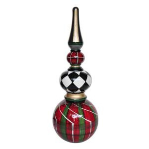 MPG 2.8 ft. Plaid and Harlequin Christmas Topiary-PC7555A 207191996