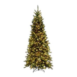 National Tree Company 9 ft. Tiffany Slim Fir Artificial Christmas Tree-TFSLH-90LO 202214953