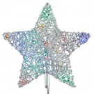 12 in. 18-Light LED Multi-Color 5-Star Metal Tree Topper-TF04-1MS012-A 202938529