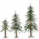 2 ft., 3 ft., and 4 ft. Set of Pre-Lit Alpine Artificial Christmas Trees with Natural Looking Trunk-5417--234C 302452276