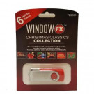 2 in. WindowFX Christmas Window Classics USB with 6 Videos-75604 206852372