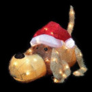 20 in. H Pre-Lit Clear Mini Lights Christmas Greeting Puppy-56526075X 204475662