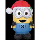 2.3 ft. W x 3.6 ft. H Minion Bob with Santa Hat-38624X 302848214