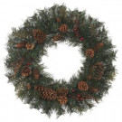 24 in. Natural Pine Artificial Wreath-1659064HD 202703249