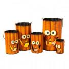 29.25 in. Wavy Metal Pumpkin Halloween Luminaries (Set of 5)-2307240EC 302480205