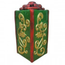 30 in. LED Lighted Green Jumbo Gift Box-MX1201A 206963150