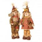 31 in. Standing Harvest Scarecrows (Set of 2)-2093810EC 302480199