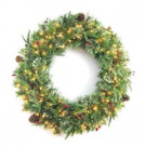 36 in. Syracuse Cashmere Berry Artificial Wreath with 100 Warm White LED Light-BOWOTHD171C 205982744