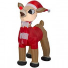 42 in. Inflatable Airblown-Standing Rudolph in Santa Outfit-15248 301694172