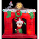5 ft. W x 5.6 ft. H Santa's Head Popping Down at Fireplace Scene-13466X 302848208