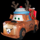5 ft. Airblown Inflatable Lighted Mater with Reindeer Hat and Present-85212 203266137