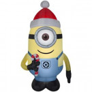 52.36 in. W x 44.49 in. D x 90.16 in. H Inflatable Airblown-Stuart with Santa Hat-80421 301693986