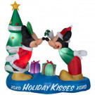 5.5 ft. Inflatable Lighted Airblown Mickey and Minnie with Mistletoe Scene-85507 301684631