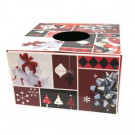 6 in. Dia Burgundy and Red Original Christmas Tree Skirt Box-76233 302658736