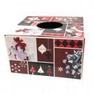 6 in. Dia Burgundy and Red Original Christmas Tree Skirt Box-76237 302670900
