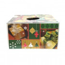 6 in. Dia Green and Gold Original Christmas Tree Box Skirt-76239 302658809