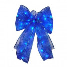 9 in. 36-Light Battery Operated LED Blue Everyday Bow-EB03-B006-A1 202371876