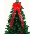 9 in. 36-Light LED Red Ribbon Bow-RB33-R009-A 202371855