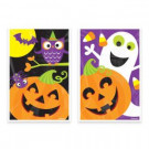 Amscan 6 in. x 4 in. Halloween Plastic Treat Bag Assortment (80-Count, 5- Pack)-370087 300598962
