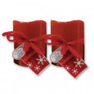 Brite Star 3 in. x 6 in. Flameless LED Novelty Red Candle (2-Set)-45-788-23 203541864