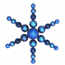 Christmas by Krebs 31 in. Blue Shatterproof Star Flake Ornament-CBK30077 204510511