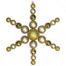 Christmas by Krebs 31 in. Gold Shatterproof Star Flake Ornament-CBK30066 204510509