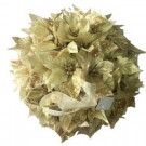 Home Accents Holiday 14.5 in. Dried Floral Wreath Gold Glittered Kissing Ball-44682A 207168393