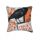 Home Accents Holiday 18 in. x 18 in. Crow Halloween Print Pillow-THD-HW015 301217000