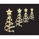 Home Accents Holiday 18 in. Clear Spiral Tree Pathway Lights (Set of 4)-TY084-1118-1C 202532681