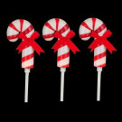 Home Accents Holiday 19 in. Frosted Candy Cane Pathway Marker (Pack of 3)-4201-19671HDD 206963334