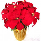 Home Accents Holiday 21 in. Silk Poinsettia Arrangement (Case of 6)-69X9837R14YOW 301577263