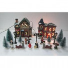 Home Accents Holiday 6.18 in. Village Set-Fire Station (20-Pieces)-THD-HH-090 301577478