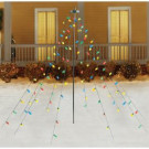 Home Accents Holiday 7FT 100L FACECTED C9 MULTI LED TREE DRAPE LIGHTS-TY046-1713 301886151