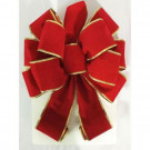 Home Accents Holiday Red Velvet and Gold Edge Bow-854AS03AHD 207186329
