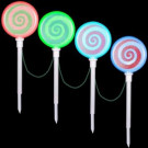 LightShow 18.11 in. Color Changing Pathway Peppermint Stakes (Set of 4)-34986 206768271