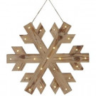 Martha Stewart Living 18 in. W Lighted Wood Snowflake Christmas Ornament-9727200410 300245620