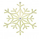 Martha Stewart Living 9 ft. Warm White Outdoor Lighted 34.5 in. Snowflake-9987820410 302741692