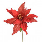 National Tree Company 26-1/2 in. Red Single Poinsettia Stem (Set of 12)-PS3-265-1 205585445